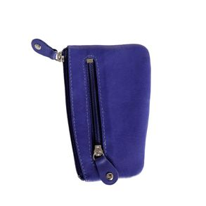 Branco – Key case / key holder made out of leather, royal blue, model 029