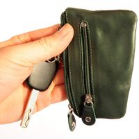 Branco - Key Wallet, Key Purse, Leather Key Case, Model-029 Green
