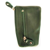 Branco – Key case / key holder made out of leather, hunter's green, model 029-2