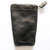 Branco – Key case / key holder made out of leather, black, model 029-3