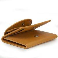 Branco – Small wallet / coin purse size XS, made out of leather, beige, model 105-8