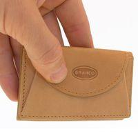 Branco – Kleine Geldbörse / Mini Portemonnaie Größe XS aus Leder, Natur-Beige, Modell 105