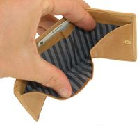 Branco – Small wallet / coin purse size XS, made out of leather, beige, model 105
