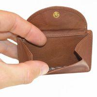 Branco, 105 - Kleine Geldbörse bzw. Mini Portemonnaie in braun, Detailansicht Münzfach - 02