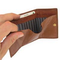 Branco, 105 - Kleine Geldbörse bzw. Mini Portemonnaie in braun, Detailansicht Geldscheinfach - 04