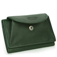 Branco – Small wallet / coin purse size XS, made out of leather, hunter's green, model 105-6