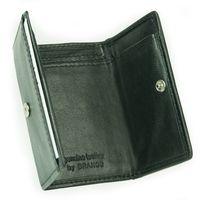 Branco, 105 - Kleine Geldbörse bzw. Mini Portemonnaie in Jäger-Grün Frontansicht aufgeklappt - 07