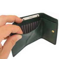 Branco – Small wallet / coin purse size XS, made out of leather, hunter's green, model 105-4