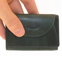 Branco – Small wallet / coin purse size XS, made out of leather, hunter's green, model 105