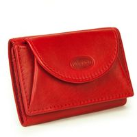 Branco – Small wallet / coin purse size XS, made out of leather, red, model 105-5