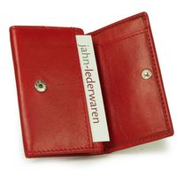 Branco – Small wallet / coin purse size XS, made out of leather, red, model 105-9