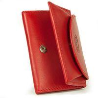 Branco, 105 - Kleine Geldbörse bzw. Mini Portemonnaie in rot, Schrägansicht aufgestellt, leicht aufgeklappt - 07