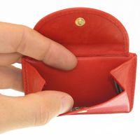 Branco – Small wallet / coin purse size XS, made out of leather, red, model 105-2