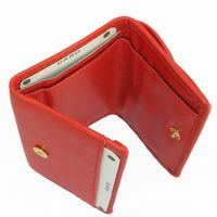 Branco – Small wallet / coin purse size XS, made out of leather, red, model 105-3