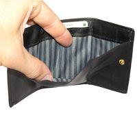 Branco, 105 - Kleine Geldbörse bzw. Mini Portemonnaie in schwarz, Detailansicht Geldscheinfach - 04