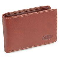 Branco, 12022 - Kleine Geldbörse bzw. Mini Portemonnaie aus Leder in Braun, Frontansicht aufgestellt - 07