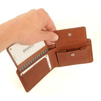 Branco – Small wallet / coin purse size XS, made out of leather, brown, model 12022-8
