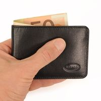 Branco – Small wallet / coin purse size XS, made out of leather, black, model 12022
