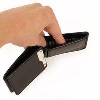 Branco, 12022 - Kleine Geldbörse bzw. Mini Portemonnaie aus Leder in Schwarz, Detailansicht auf Geldscheinfach - 05