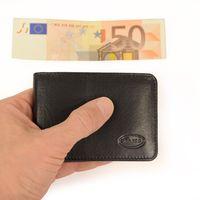 Branco – Kleine Geldbörse / Mini Portemonnaie Größe XS aus Leder, Schwarz, Modell 12022