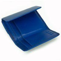 Branco – Kleine Geldbörse / Portemonnaie Größe S für Damen aus Leder, Azur-Blau, Modell 12032