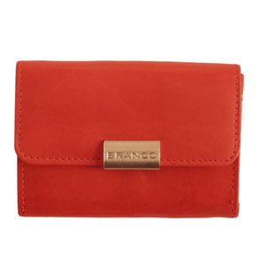 Branco – Small wallet / purse size S for women made out of leather, red, model 12032