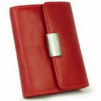 Branco – Small wallet / purse size S for women made out of leather, red, model 12032-5