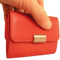 Branco – Small wallet / purse size S for women made out of leather, red, model 12032-2