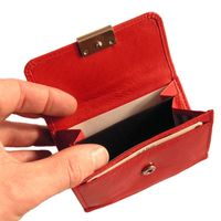 Branco – Small wallet / purse size S for women made out of leather, red, model 12032-3