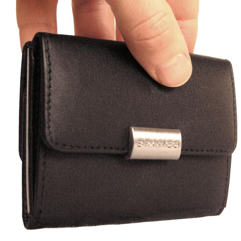 bfd290ac21d781 Branco, 12032 - Kleine Geldbörse bzw. kleines Portemonnaie für Damen aus  Leder in schwarz ...