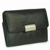 Branco – Small wallet / purse size S for women made out of leather, black, model 12032