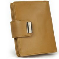 Branco – Large wallet / purse size L for women made out of leather, beige, model 12050-5