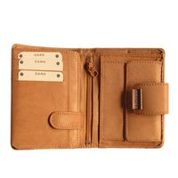 Branco – Large wallet / purse size L for women made out of leather, beige, model 12050