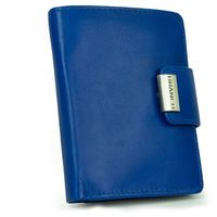 Branco – Large wallet / purse size L for women made out of leather, royal blue, model 12050
