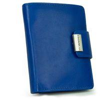 Branco, 12050 - Große Geldbörse bzw. großes Portemonnaie für Damen aus Leder in blau, Schrägansicht aufgestellt - 04