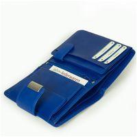 Branco, 12050 - Große Geldbörse bzw. großes Portemonnaie für Damen aus Leder in blau, Schrägansicht liegend aufgeklappt - 05