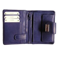 Branco – Large wallet / purse size L for women made out of leather, royal blue, model 12050-2