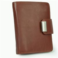 Branco – Large wallet / purse size L for women made out of leather, brown, model 12050