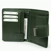 Branco – Large wallet / purse size L for women made out of leather, hunter's green, model 12050-7