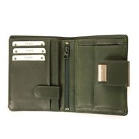 Branco – Large wallet / purse size L for women made out of leather, hunter's green, model 12050