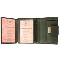 Branco – Large wallet / purse size L for women made out of leather, hunter's green, model 12050-3