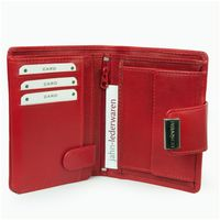Branco – Large wallet / purse size L for women made out of leather, red, model 12050-8
