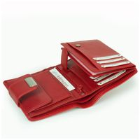 Branco – Large wallet / purse size L for women made out of leather, red, model 12050-7