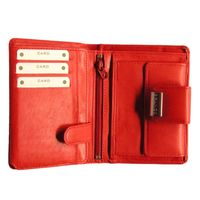 Branco – Large wallet / purse size L for women made out of leather, red, model 12050-2