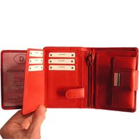 Branco – Large wallet / purse size L for women made out of leather, red, model 12050-3