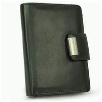 Branco, 12050 - Große Geldbörse bzw. großes Portemonnaie für Damen aus Leder in schwarz, Frontansicht aufgestellt - 04