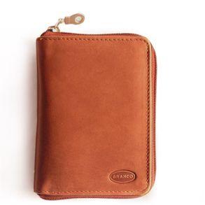 Branco, 12052z - Große Geldbörse bzw. großes Portemonnaie aus Leder in braun, Frontansicht - 01