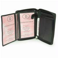 Branco, 12052z - Große Geldbörse bzw. großes Portemonnaie aus Leder in schwarz, Detailansicht Ausweisfächer - 06