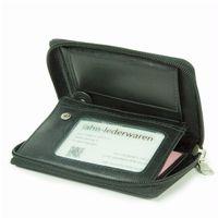 Branco, 12052z - Große Geldbörse bzw. großes Portemonnaie aus Leder in schwarz, Detailansicht Ausweisfach mit Sichtfenster - 04
