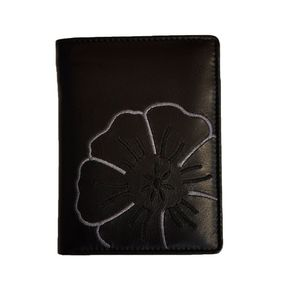 Branco – Large wallet / elegant purse size L for women made out of leather, black, model 22369
